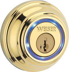 Kevo | Polished Brass Finished Bluetooth Deadbolt for Keyless Entry