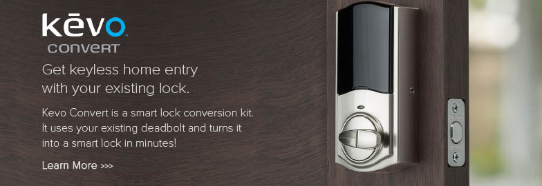 Get keyless home entry with your existing lock.