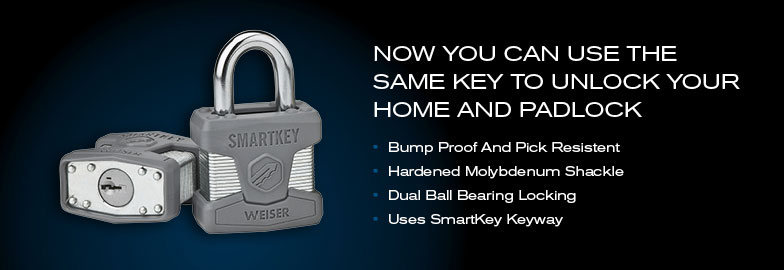 Use the same key for your home and for padlocks!