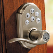 electronic touchpad locking lever ideal for interior or exterior rooms needing a convenient lockset