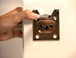 Attach Deadbolt Trim