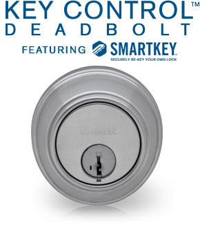 Key Control Deadbolt Featuring Smart Key Re Key Technology