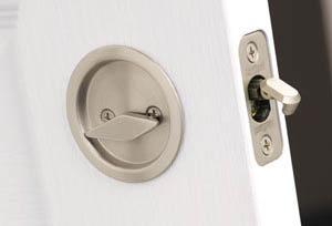 Round Privacy Pocket Door Lock