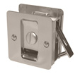 Square Privacy Pocket Door Lock - Satin Nickel