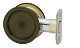 Round Passage Pocket Door Lock - Venetian Bronze