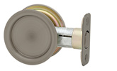 Round Passage Pocket Door Lock - Antique Nickel