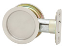 Round Passage Pocket Door Lock - Satin Nickel