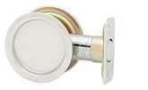 Round Passage Pocket Door Lock - Bright Chrome