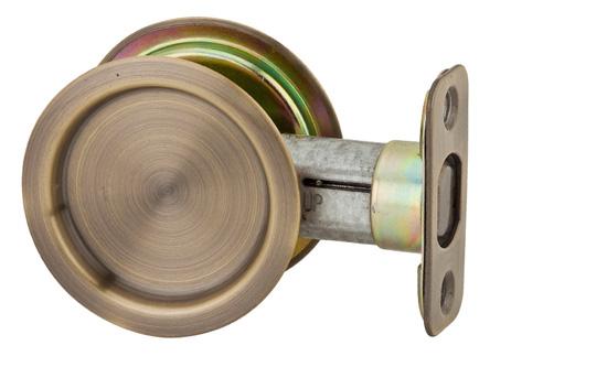 Round Passage Pocket Door Lock