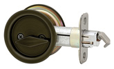 Round Privacy Pocket Door Lock - Venetian Bronze