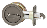Round Privacy Pocket Door Lock - Antique Nickel