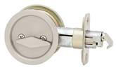 Round Privacy Pocket Door Lock - Satin Nickel